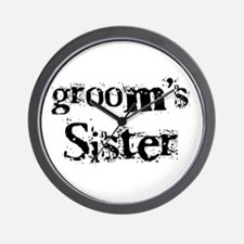 Groom's Sister Wall Clock