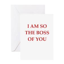 boss joke Greeting Card