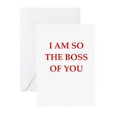 boss joke Greeting Cards (Pk of 10)