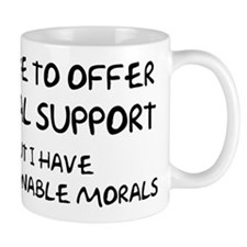 Questionable Moral Support Mug