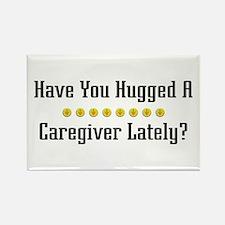 Hugged Caregiver Rectangle Magnet