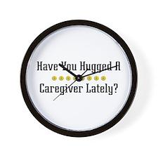 Hugged Caregiver Wall Clock