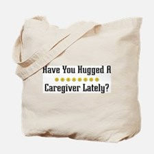 Hugged Caregiver Tote Bag