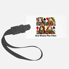 Real Women Play Poker Luggage Tag