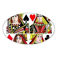 Real Women Play Poker Decal