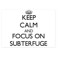 Keep Calm and focus on Subterfuge Invitations