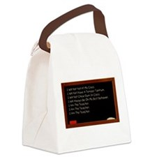 i am the teacher 3.png Canvas Lunch Bag