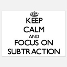 Keep Calm and focus on Subtraction Invitations