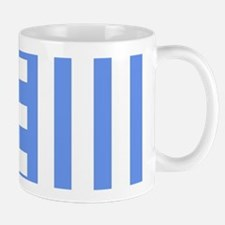 Lavender and Blue Combs Tooth Mugs