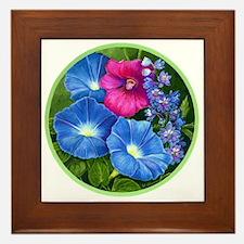 Morning Glories Framed Tile