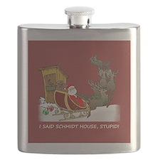 Schmidt House Funny Christmas Flask