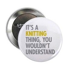 """Its A Knitting Thing 2.25"""" Button (100 pack)"""