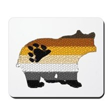 PRIDE BEAR W/MOSAIC STRIPES Mousepad