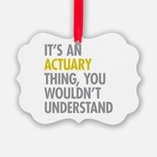 Its An Actuary Thing Ornament