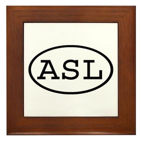 ASL Oval Framed Tile