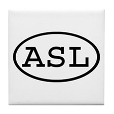 ASL Oval Tile Coaster