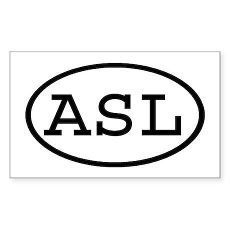 ASL Oval Rectangle Sticker