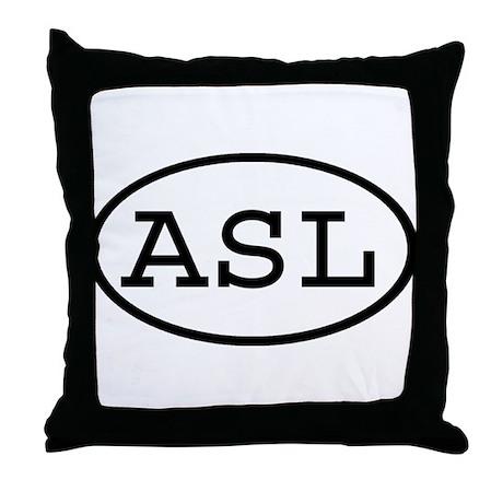 ASL Oval Throw Pillow