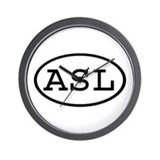 ASL Oval Wall Clock