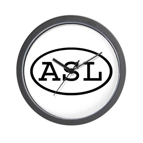 ASL Oval Wall Clock