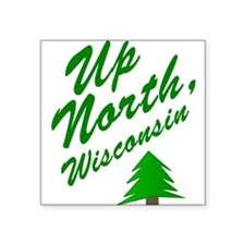"Cute Up north Square Sticker 3"" x 3"""