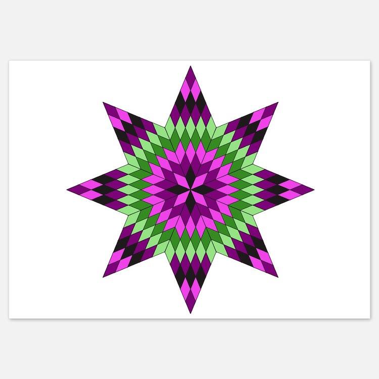 Native Purple Star Invitations