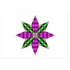 Purple and Green Star Invitations