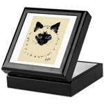 Blue Eyed Kitten Keepsake Box