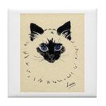Blue Eyed Kitten Tile Coaster