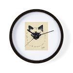 Blue Eyed Kitten Wall Clock