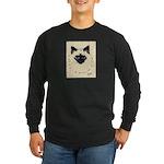 Blue Eyed Kitten Long Sleeve Dark T-Shirt