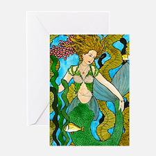 Seaweed Mermaid Greeting Cards
