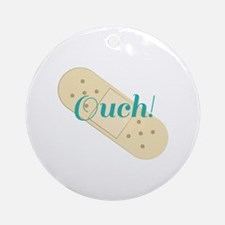 Ouch Bandage Ornament (Round)