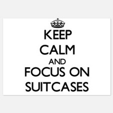 Keep Calm and focus on Suitcases Invitations