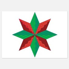 Red and Green Star Invitations