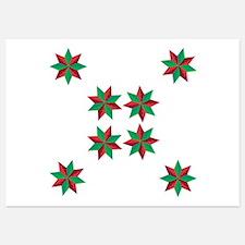 Christmas Stars Invitations