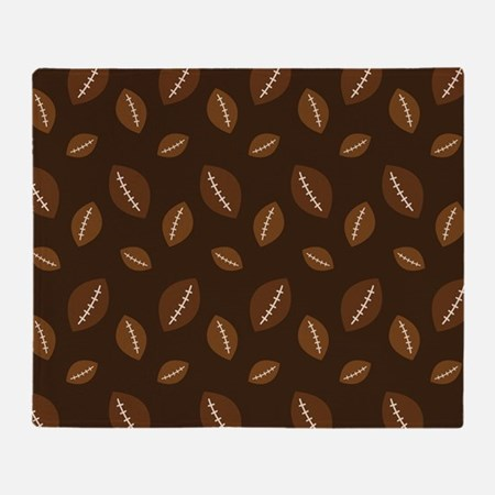 Sports Pattern Football Throw Blanket