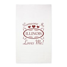 Somebody In Illinois Loves Me 3'x5' Area Rug