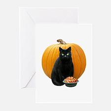 Black Cat Pumpkin Greeting Cards (Pk of 10)