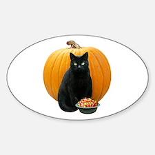 Black Cat Pumpkin Decal