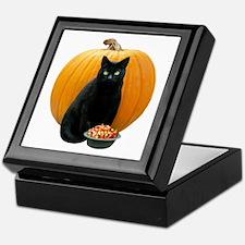 Black Cat Pumpkin Keepsake Box