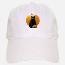 Black Cat Pumpkin Baseball Baseball Cap