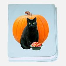 Black Cat Pumpkin baby blanket