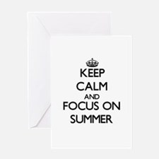Keep Calm and focus on Summer Greeting Cards