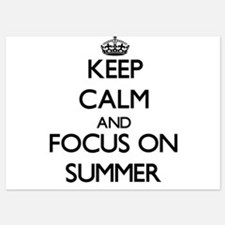 Keep Calm and focus on Summer Invitations