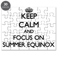 Keep Calm and focus on SUMMER EQUINOX Puzzle