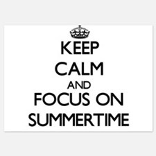 Keep Calm and focus on Summertime Invitations