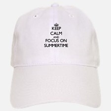 Keep Calm and focus on Summertime Baseball Baseball Cap