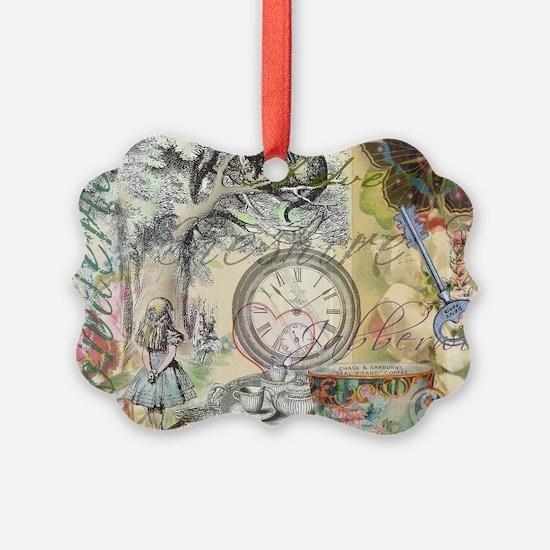Cheshire Cat Alice in Wonderland Ornament