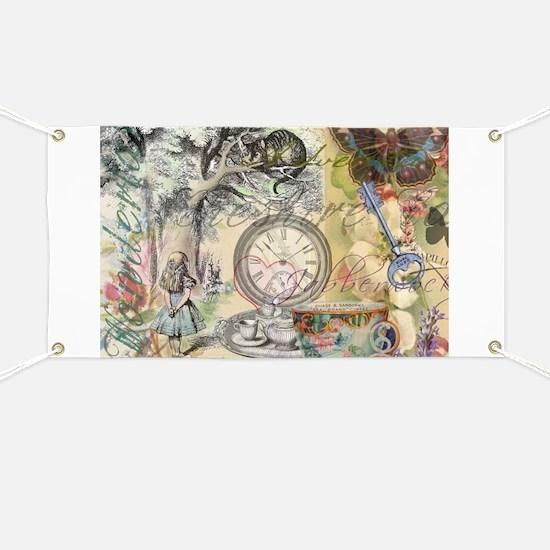 Cheshire Cat Alice in Wonderland Banner